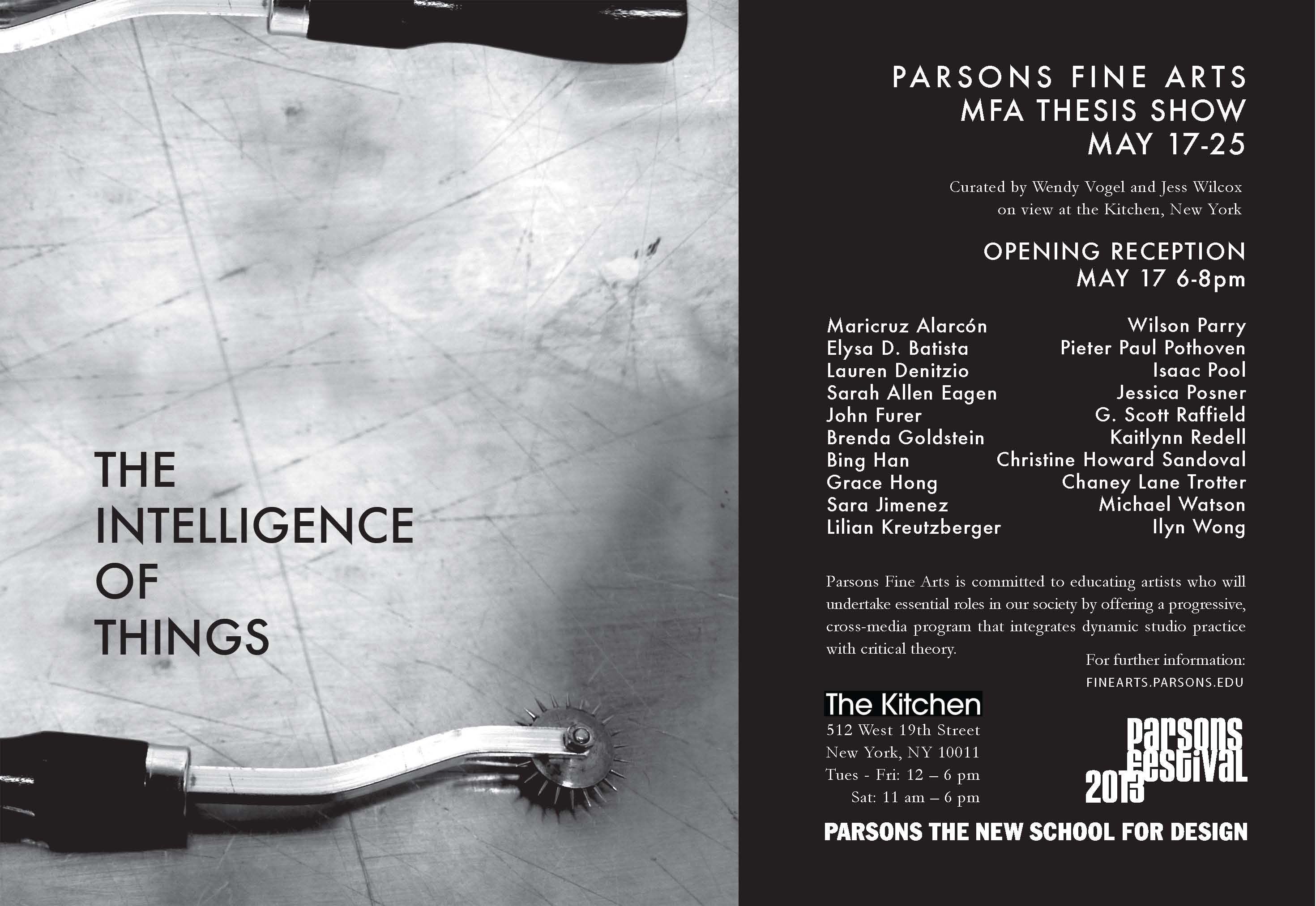 parsons mfa thesis exhibition