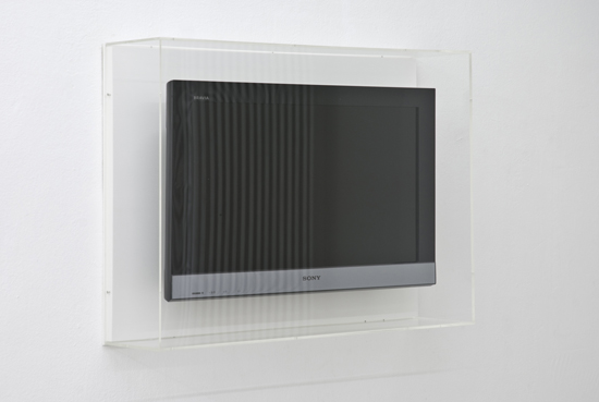 Jonathan-MonkSony-BRAVIA-Ex3l-26-2010Flatscreen-mounted-on-wood-with-clear-acryl-box58-x-79-x-19-cm.jpeg