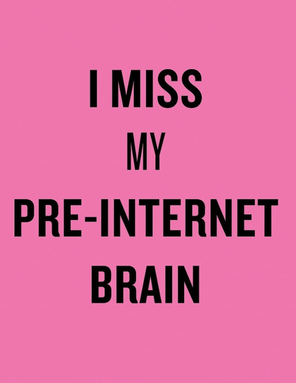 Douglas Coupland, I Miss My Pre-Internet Brain (2013)